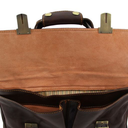 Reggio Emilia Exklusive Leder - Notebooktasche Schwarz TL140889