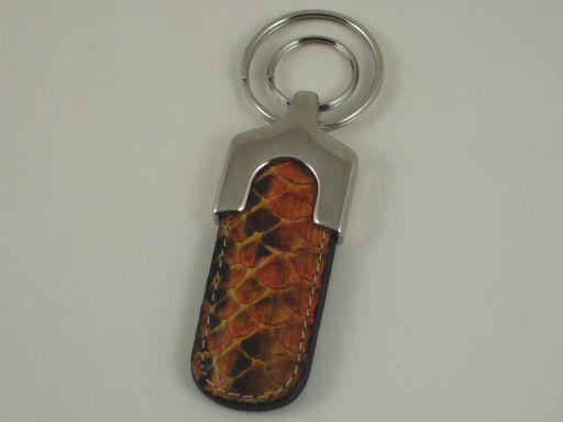 Esclusivo portachiavi in pitone Arancio TL140733