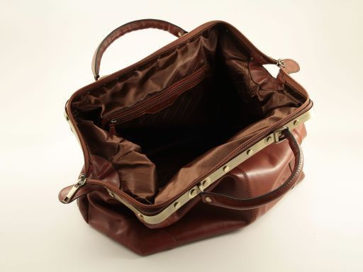 Donatello Doctor leather bag - Large size Brown TL140959