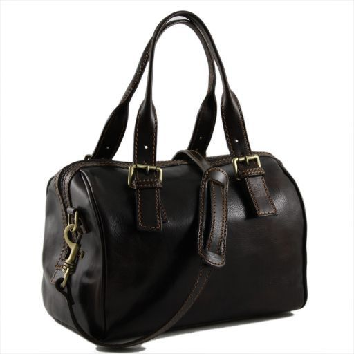 Martina Women's leather mini duffle Dark Brown TL141026