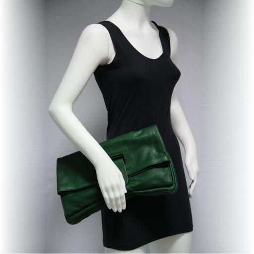 Emma Leather clutch Темно-коричневый TL141035
