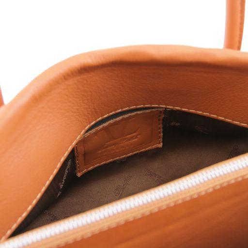 TL Bag Borsa morbida con nappa e tracolla Turchese TL141091