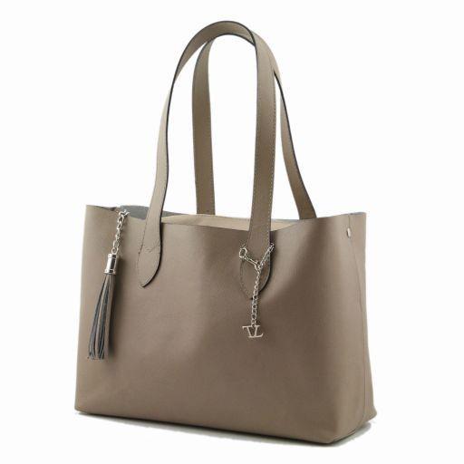 TL Bag Shopper doppia con nappa Turchese TL141093