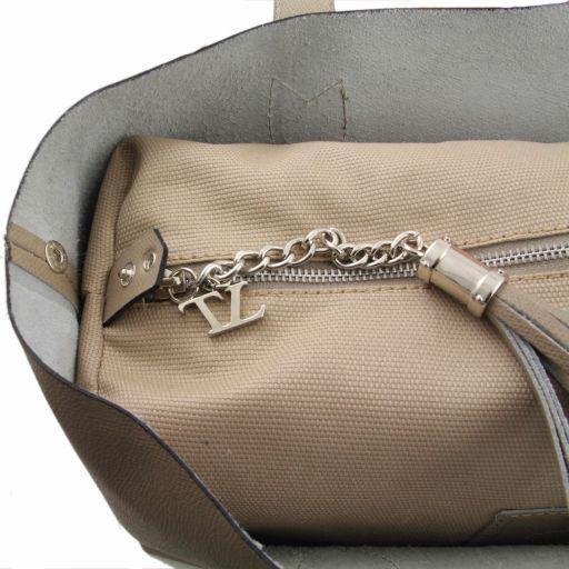 TL Bag Shopper doppia con nappa Rosso TL141093