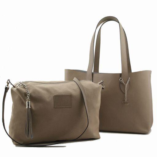 TL Bag Shopper doppia con nappa Arancio TL141093