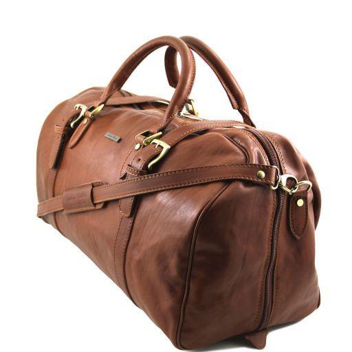 TL Travel Дорожная кожаная сумка weekender с пряжками Коричневый TL151102