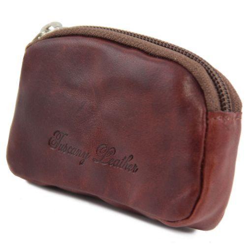 Esclusiva bustina portachiavi in pelle Rosso TL141154