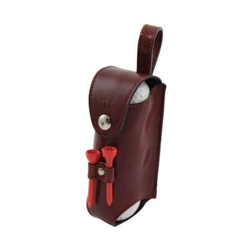 Esclusivo porta palline da golf 3 palline Marrone TL141160