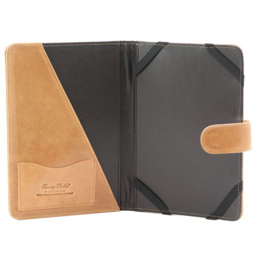 Leather iPad Mini 4 case with snap button Brown TL141171