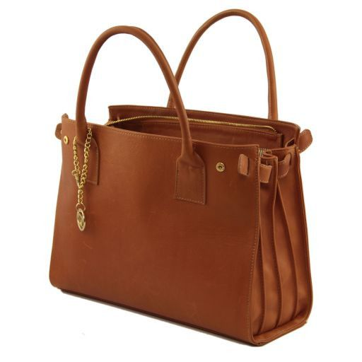 TL Bag Soft leather bag with golden hardware Синий TL141191