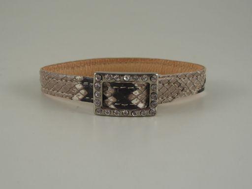 Esclusivo braccialino in pitone Roccia TL140739