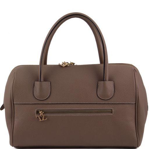 TL Bag Bauletto in pelle con accessori oro Cognac TL141210