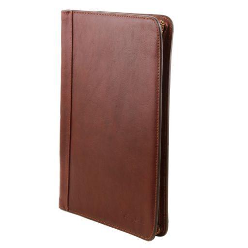 Ottavio Leather document case Brown TL141214