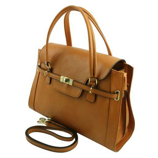 TL NeoClassic Женская кожаная сумка с поворотным замком Черный TL141230
