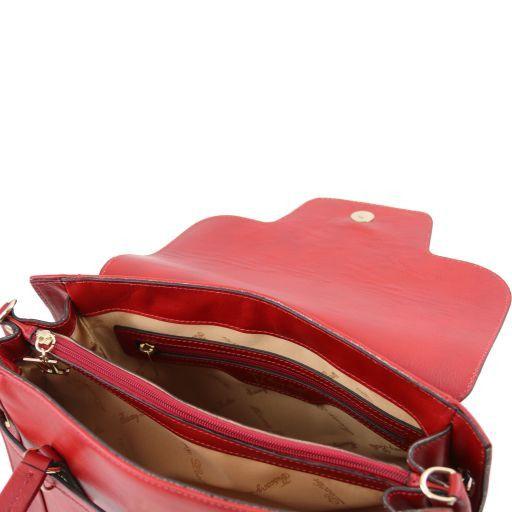 TL NeoClassic Leder Handtasche mit eleganten Drehverschluss Schwarz TL141230