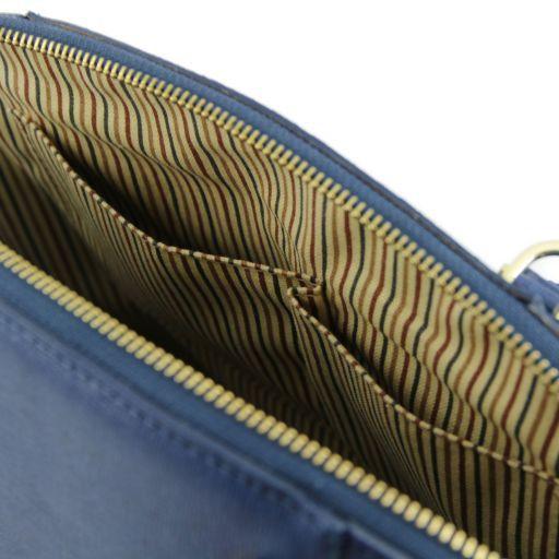 TL Bag Borsa a mano in pelle Saffiano con fibbie Nero TL141236