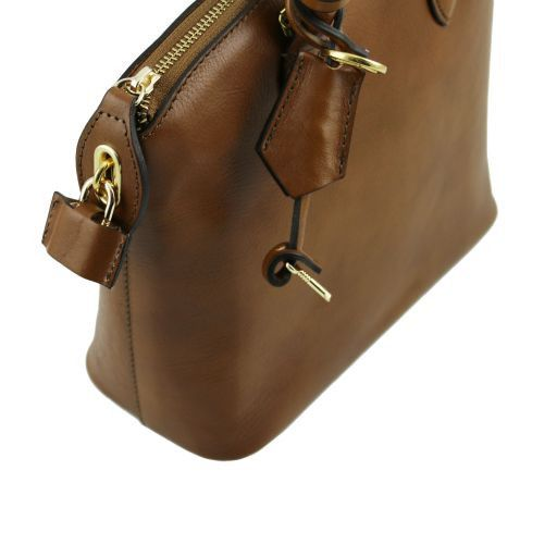 TL Bag Кожаная сумка-тоут - Малый размер Темный серо-коричневый TL141264
