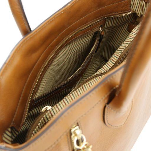 TL Bag Borsa a mano con zip frontali Cognac TL141279