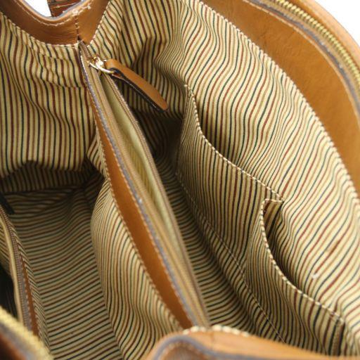 TL Bag Leather handbag with front pocket Black TL141280
