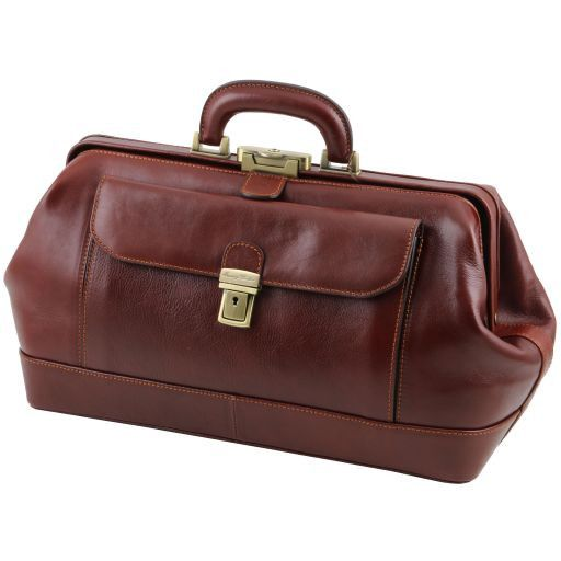 Bernini Exclusive leather doctor bag Honey TL141298