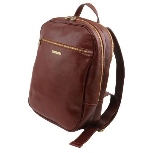 Osaka Leather laptop backpack Red TL141308