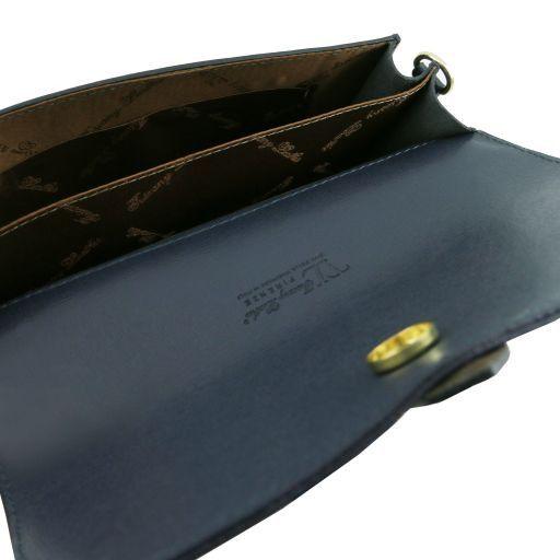 TL Bag Pochette in pelle Saffiano con tracolla sganciabile Talpa scuro TL141317