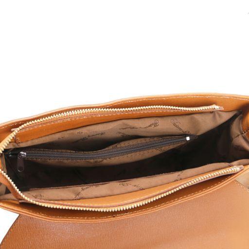 TL Bag Borsa a mano in pelle Saffiano e tracolla staccabile Nero TL141318