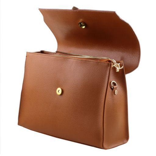 TL Bag Borsa a mano in pelle Saffiano e tracolla staccabile Avorio TL141318