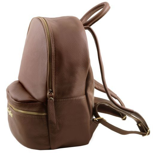 TL Bag Soft leather backpack for women Коралловый TL141320
