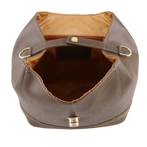 TL KEYLUCK Saffiano leather convertible bag Light Taupe TL141360