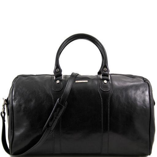 Oslo Travel leather duffle bag - Weekender bag Black TL1044