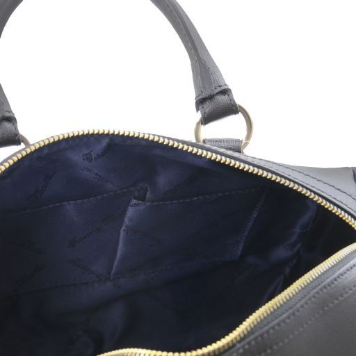 TL Keyluck Bauletto Tasche aus Saffiano Leder Schwarz TL141364