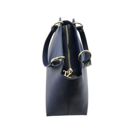 TL Bag Borsa a mano in pelle Saffiano con due manici Talpa scuro TL141367