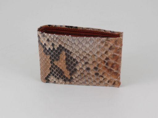 Esclusivo portafoglio uomo in vero pitone Marrone TL140770