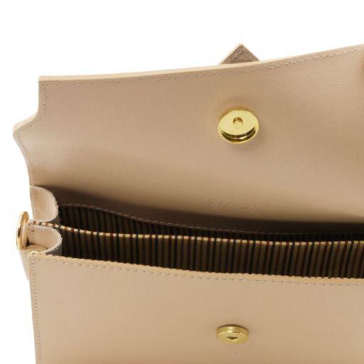 TL Bag Pochette in pelle Saffiano con tracolla sganciabile Blu TL141398