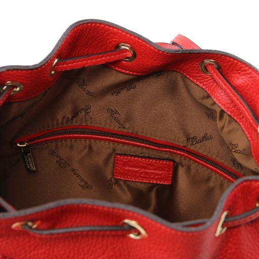Sapporo Zaino donna in pelle morbida Rosso TL141421