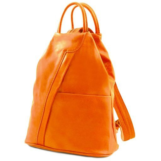 Shanghai Leather backpack Coral TL141433