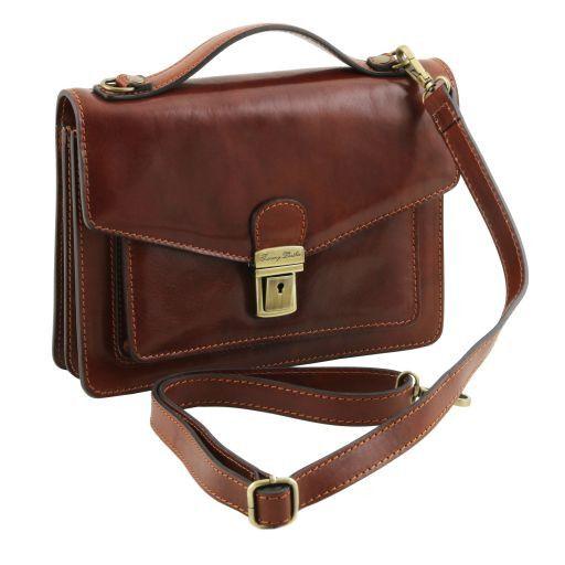 Eric Elegante Herrentasche aus Kalbsleder Schwarz TL141443