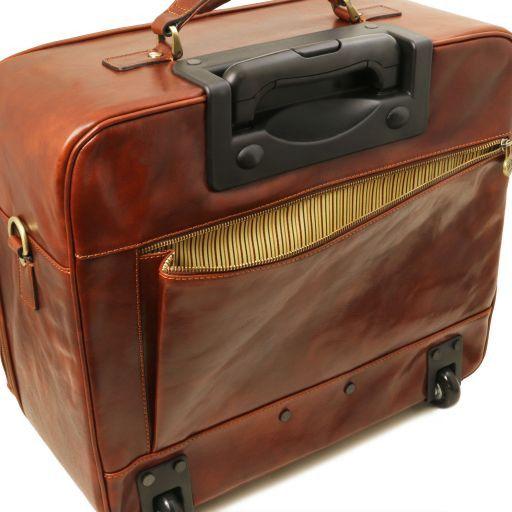 Varsavia Pilot case en cuir avec deux roulettes Noir TL141454