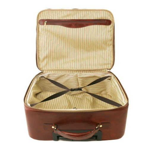Varsavia Two Wheels Leather pilot case Brown TL141454