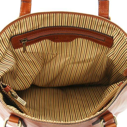 Olga Borsa shopping in pelle Marrone TL141483