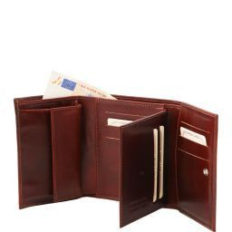 Elégant portefeuille en cuir pour femme Noir TL140790