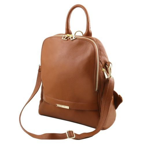 TL Bag Soft leather backpack for women Red TL141509