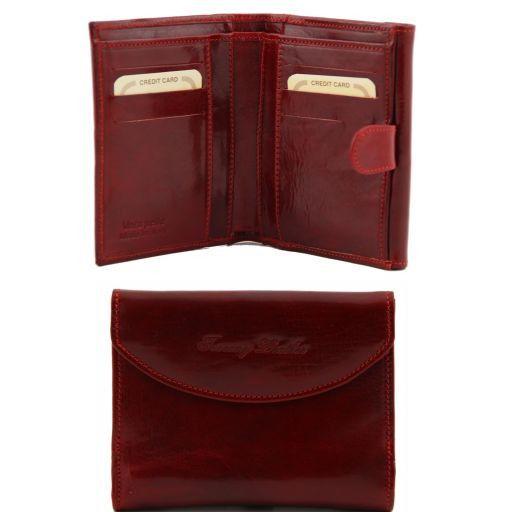 Esclusivo portafogli in pelle da donna Rosso TL140795