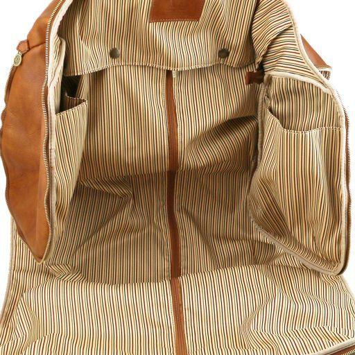 91af8a4ae8 Antigua Sac de Voyage/Housse de Transport Vêtements en Cuir Marron Foncé  TL141538