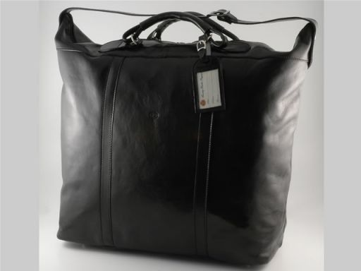 Vienna Travel leather bag - Large size Black TL1047