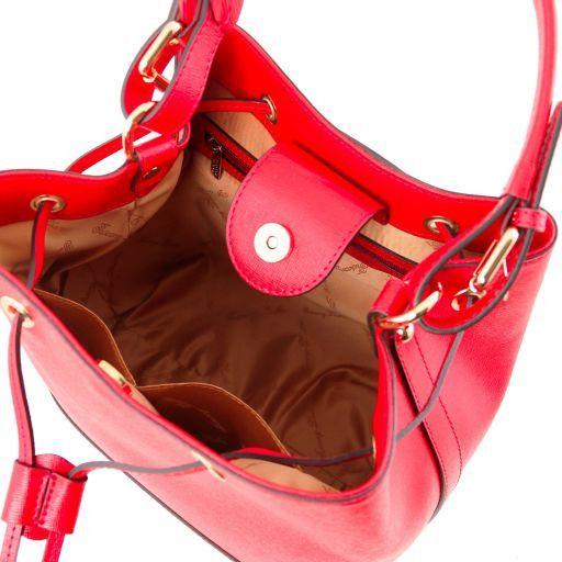 Minerva Borsa secchiello da donna in pelle Saffiano Rosso TL141549