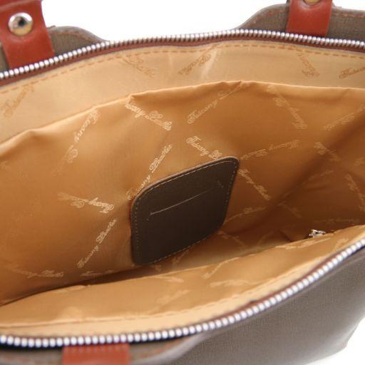 TL Bag Borsa a mano in pelle Saffiano Testa di Moro TL141577