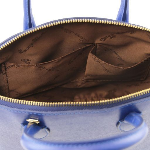TL KeyLuck Borsa shopper in pelle Saffiano - Misura piccola Talpa chiaro TL141579