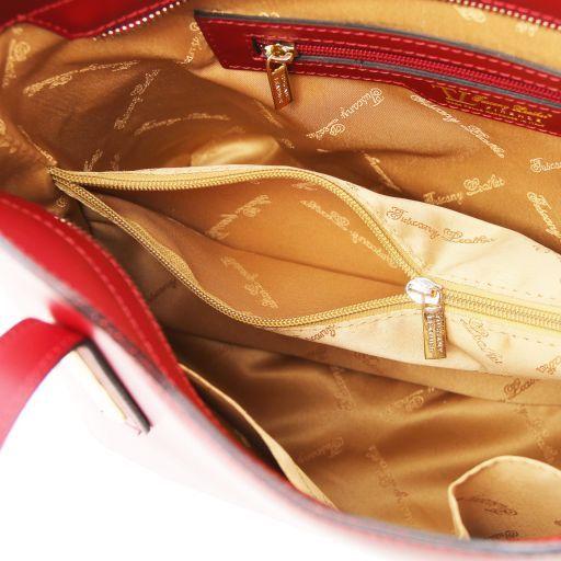 Olimpia Borsa shopper in pelle - Misura piccola Talpa chiaro TL141591